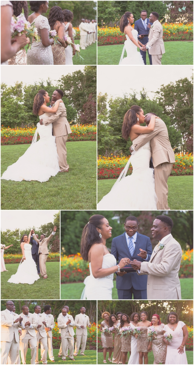 Dallas Wedding Photographer Dallas Arboretum and Botanical Garden Wedding Bride and Groom Saying Yes