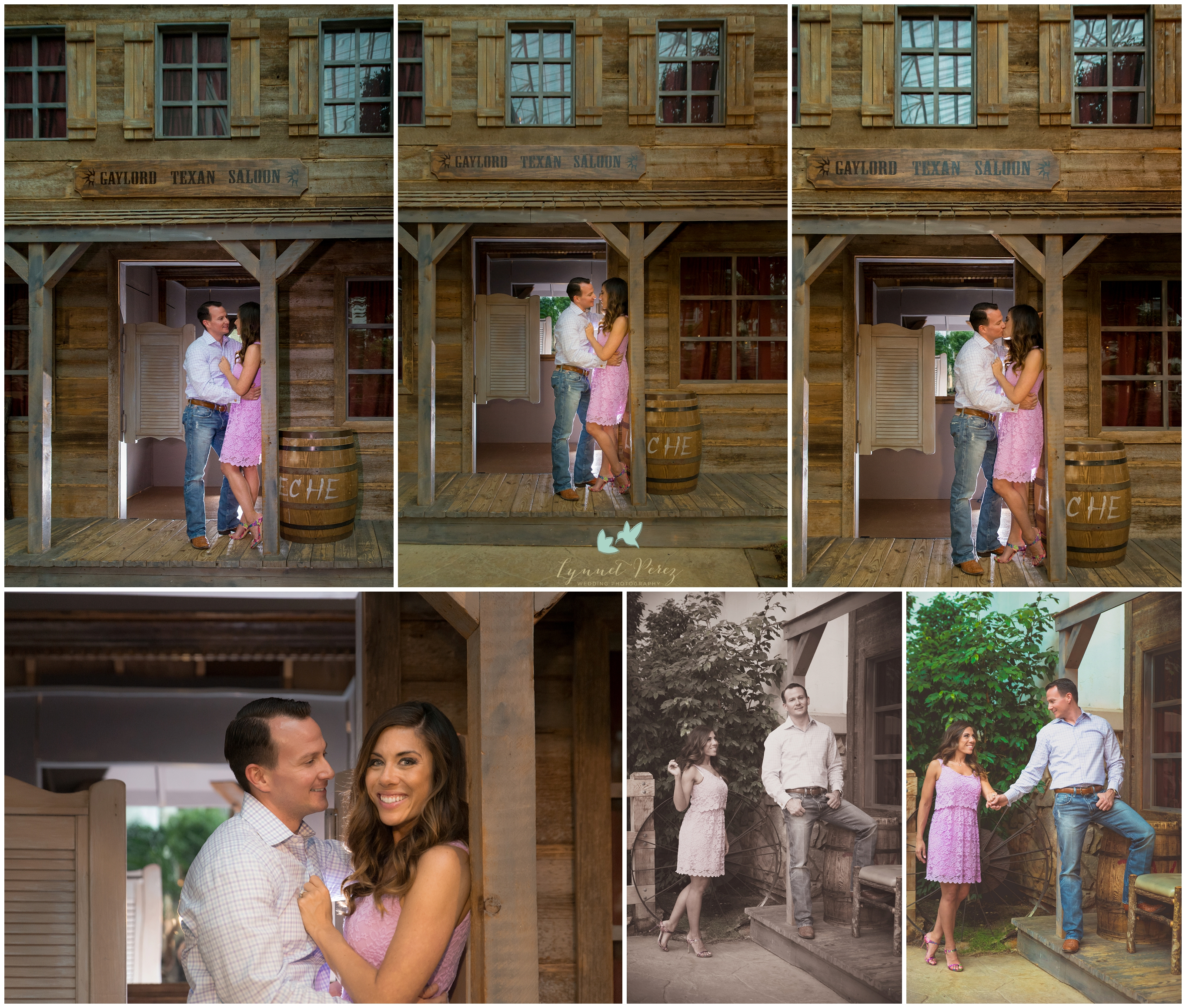 Dallas Wedding Photographer Gaylord Texan Engagement Session-Dallas Country themed