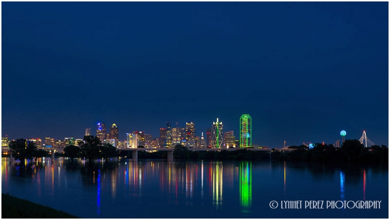 Dallas Downtown Skyline before sunset