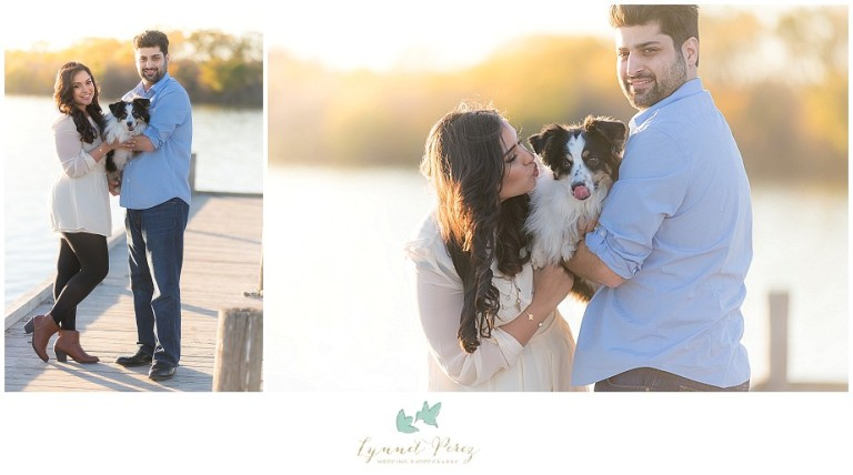 dallas-Fort-worth-wedding-photographer-engagement-sunset-photos-on-deck-with-puppy