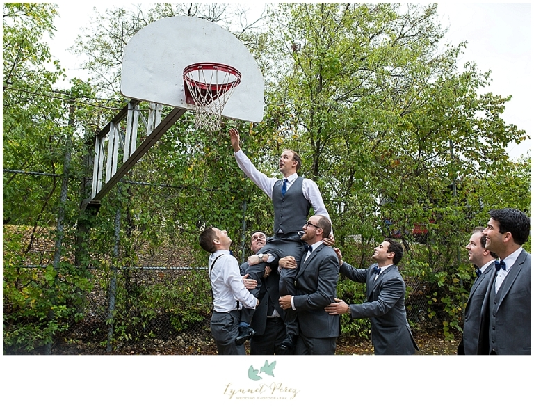 groom-and-groomsmen-playing-basketball-at-kessler-park-united-methodist-church