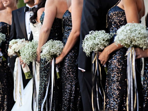 black-sequins-bridesmaids-dresses