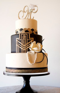 black-gold-wedding-cake-ideas