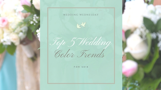 top 5 wedding color trends